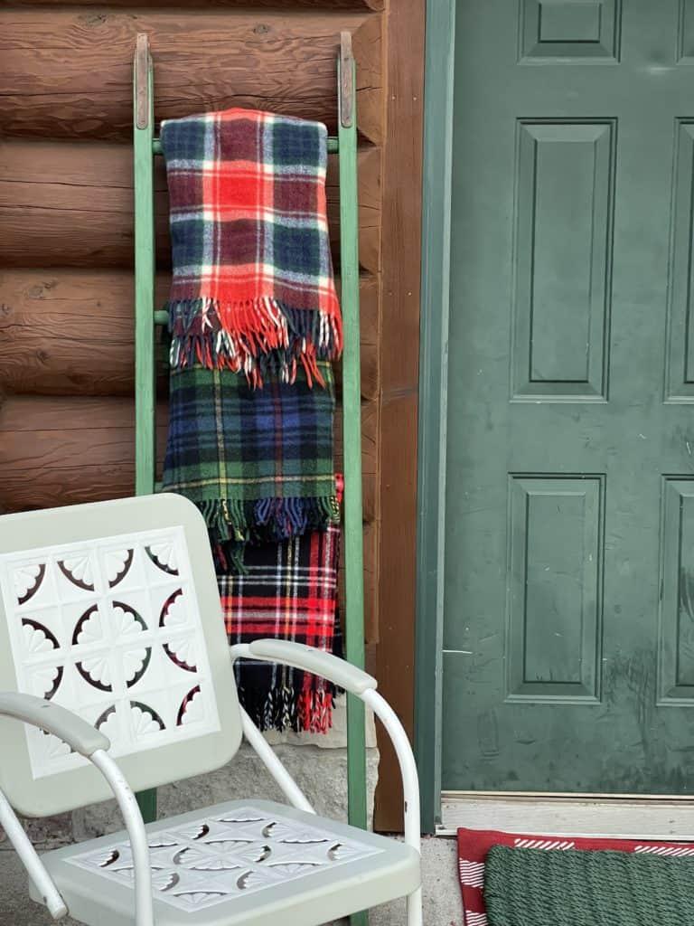 Cabin Porch in Fall